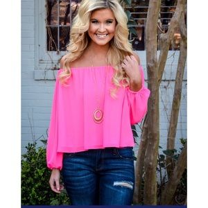 Summer Love Top- Pink Punch